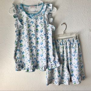 girls 🦋 butterfly floral pajama set
